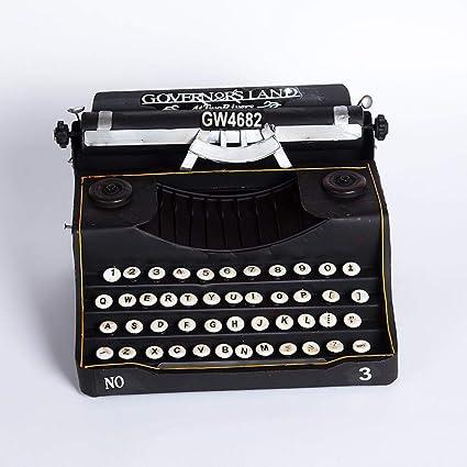 Axiba Máquina de Escribir Antigua Vintage Modelo Negro decoración hogar Bar café Adornos 33 * 25