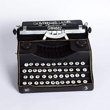 MAFYU Regali di festa Máquina de escribir antigua Vintage modelo negro decoración hogar Bar café adornos 33 * 25 * 18 cm: Amazon.es: Hogar