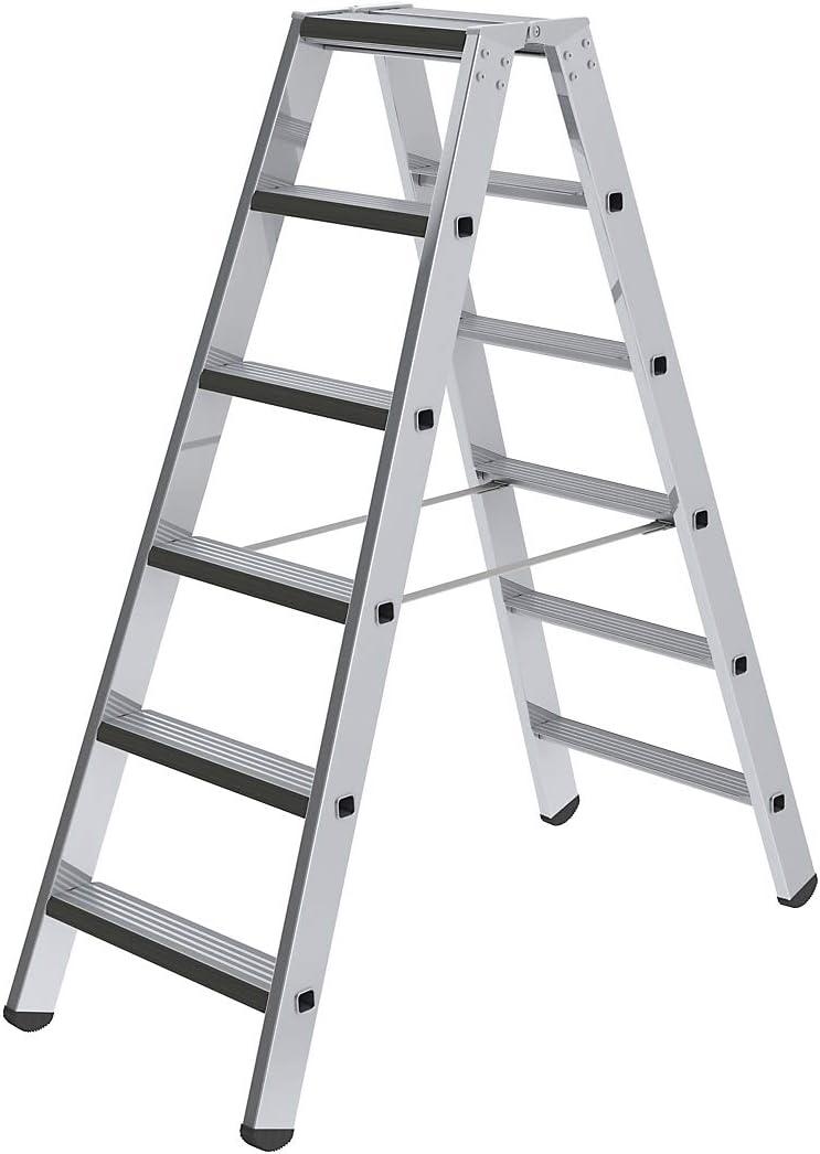 beidseitig G/ünzburger Steigtechnik Stufen-Stehleiter 2 x 8 Stufen Ausf/ührung gepolstert Alu-Leiter Alu-Leitern Alu-Stufenstehleiter Alu-Stufenstehleitern Bockleiter Bockleitern Stehleiter Stehleitern Stufenleiter Stufenleitern