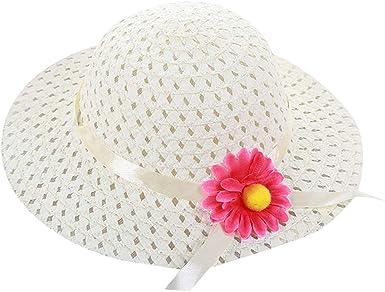 US Baby Girls Flower Fashion Straw Hats for Children Summer Beach Sun Hat Caps