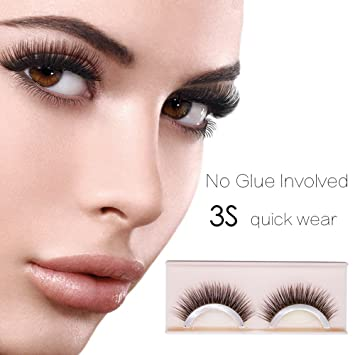 fd0ce42945c Self-Adhesive Eyelashes Pack - 3D False Eyelashes Non-Irritating Lashes  Strips - Easy
