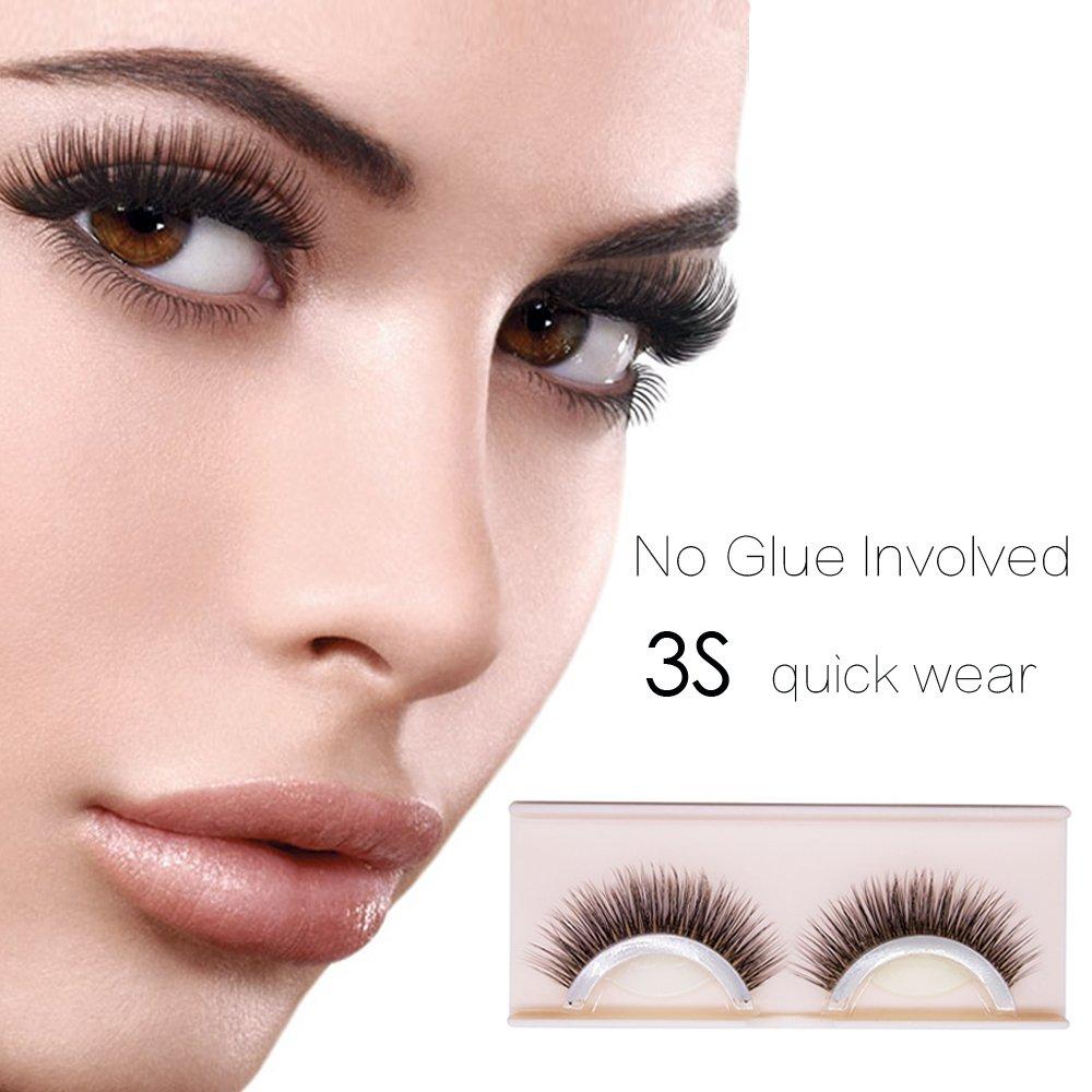 Self-Adhesive Eyelashes Pack - 3D False Eyelashes Non-Irritating Lashes Strips – Easy to Wear, No Glue Involved & Reusable – Natural Fashion Eye Lash Extensions for Fashion &Makeup