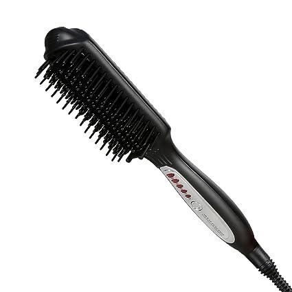 Cepillo alisador,Euph 3 en 1 multi-función de alisamiento de cepillo con control de la temperatura del LCD, cepillo alisador para el pelo con un estilo ...