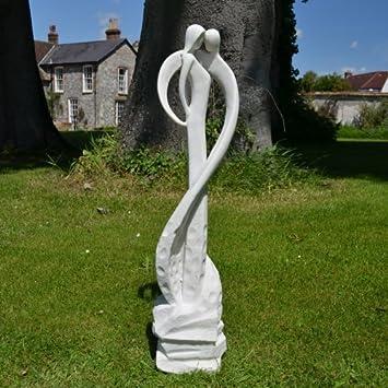 Grand Sculpture Contemporaine Motif Loving Kiss Statue De