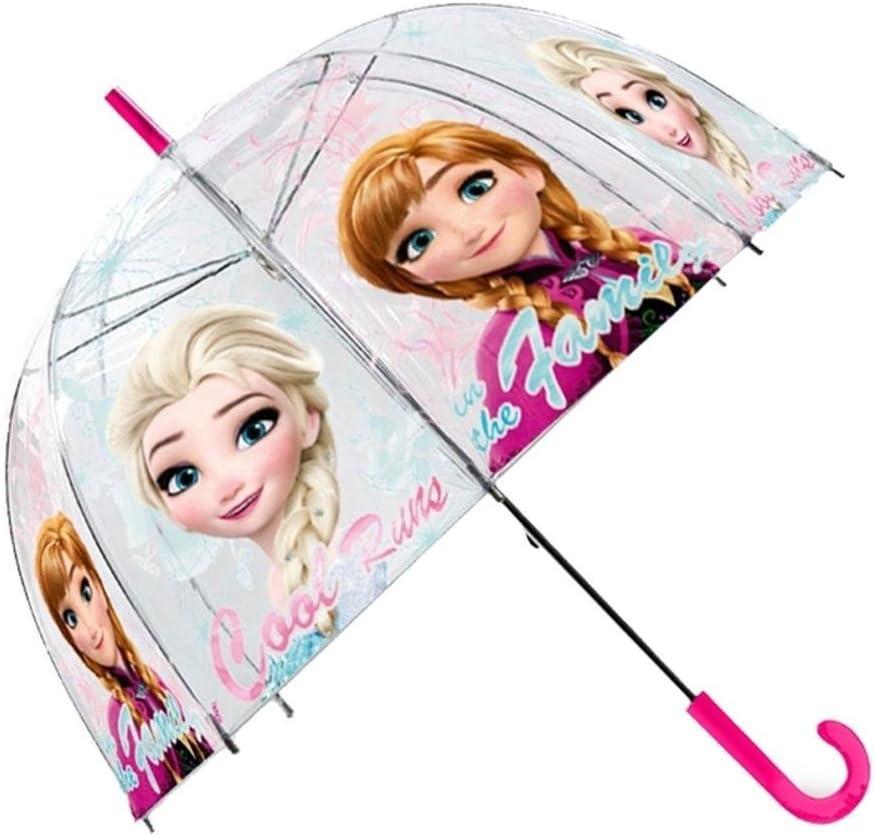 Kids Frozen Paraguas Clásico, 69 cm, Rosa