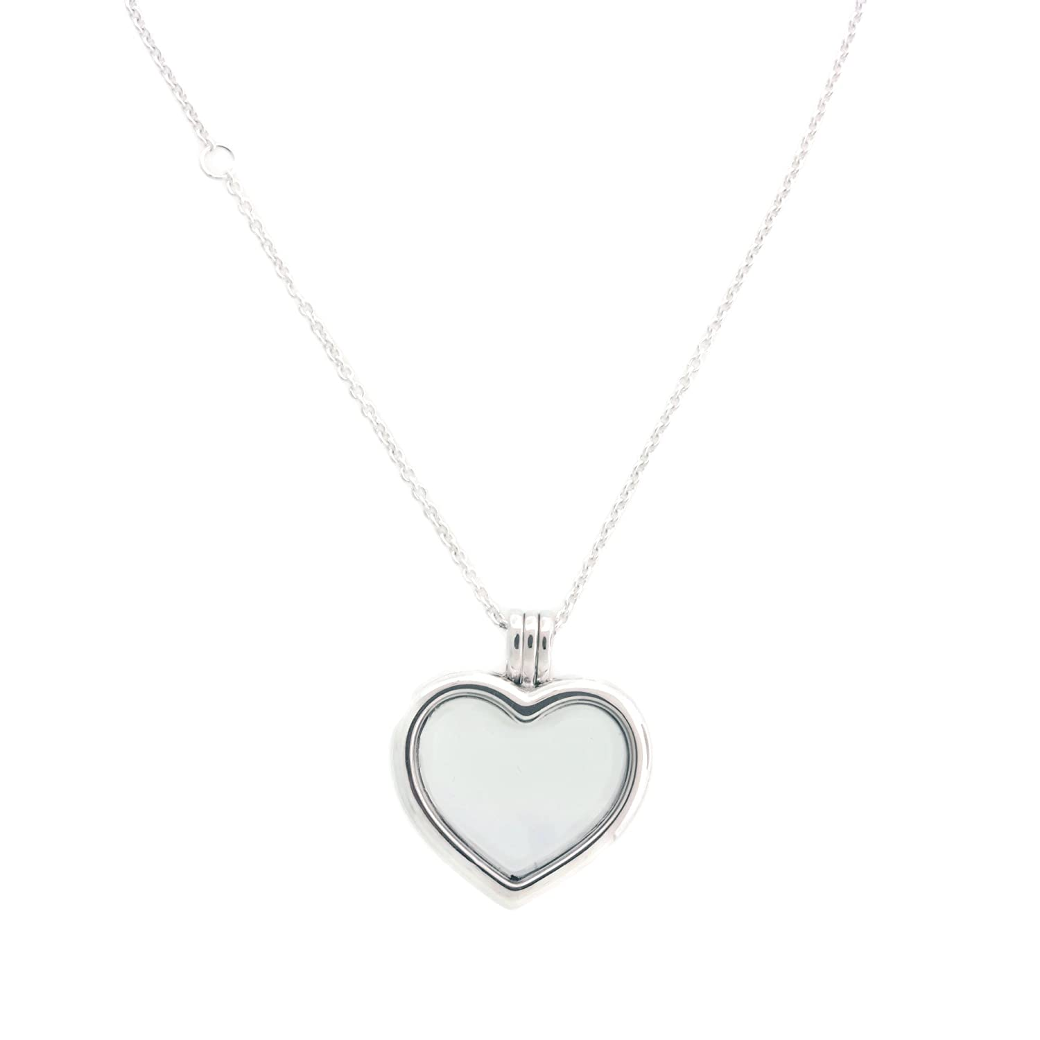 14033ed99 Amazon.com: PANDORA Floating Heart Locket, Sapphire Crystal Glass & Clear  CZ 590544-60: Jewelry