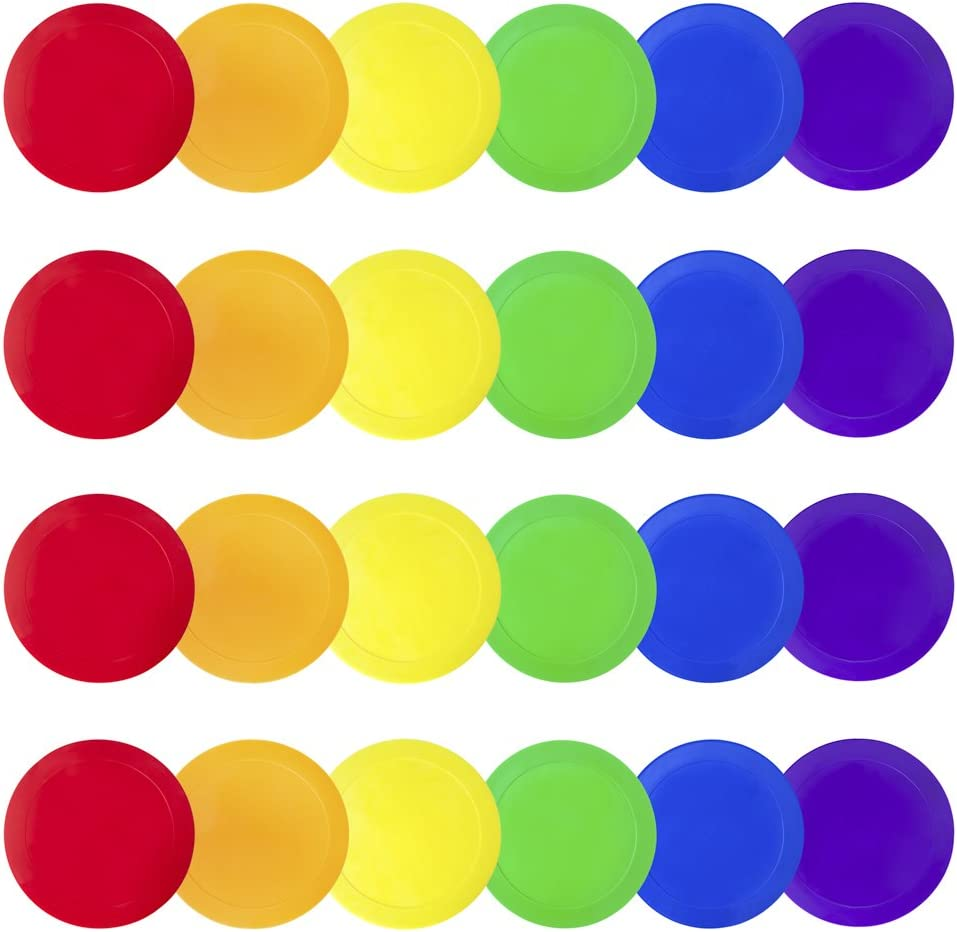 Poly Vinyl Spot Markers for Training and Drills Set of 6 One of Each Red Green
