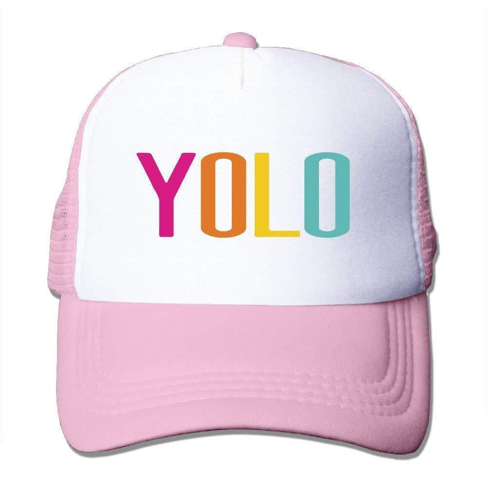 Trucker Motto You Only Live Once Cappellino da Baseball Posteriore Regolabile in Rete Yolo 03VV9278 Camping e ou