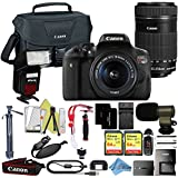 Canon EOS Rebel T6i 18MP Digital SLR Camera Retail Packaging Extreme Video Bundle (18-55 & 55-250 Premium Bundle)