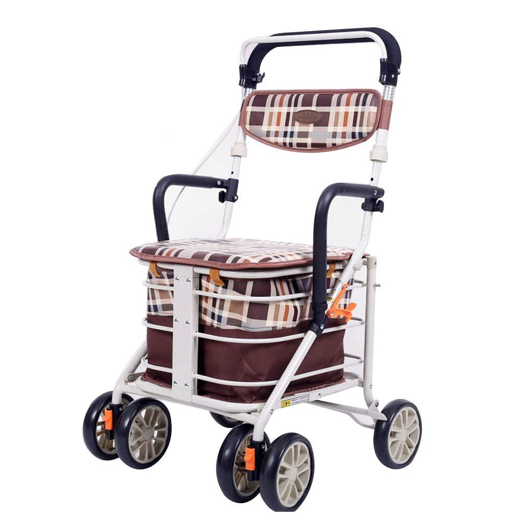 【お取り寄せ】 歩行器 ウォーカー折りたたみ式ウォーカー買物車プッシャブルカー軽量折りたたみ式ウォーカー携帯ショッピングカート高齢者用トロリースクーターウォーカー座ることができます100kg高齢者に親密な贈り物 Brown)/車椅子を贈る 歩行器 (Color : Brown) B07MNX55D5 Brown B07MNX55D5, CQB:1ea1fc8a --- a0267596.xsph.ru