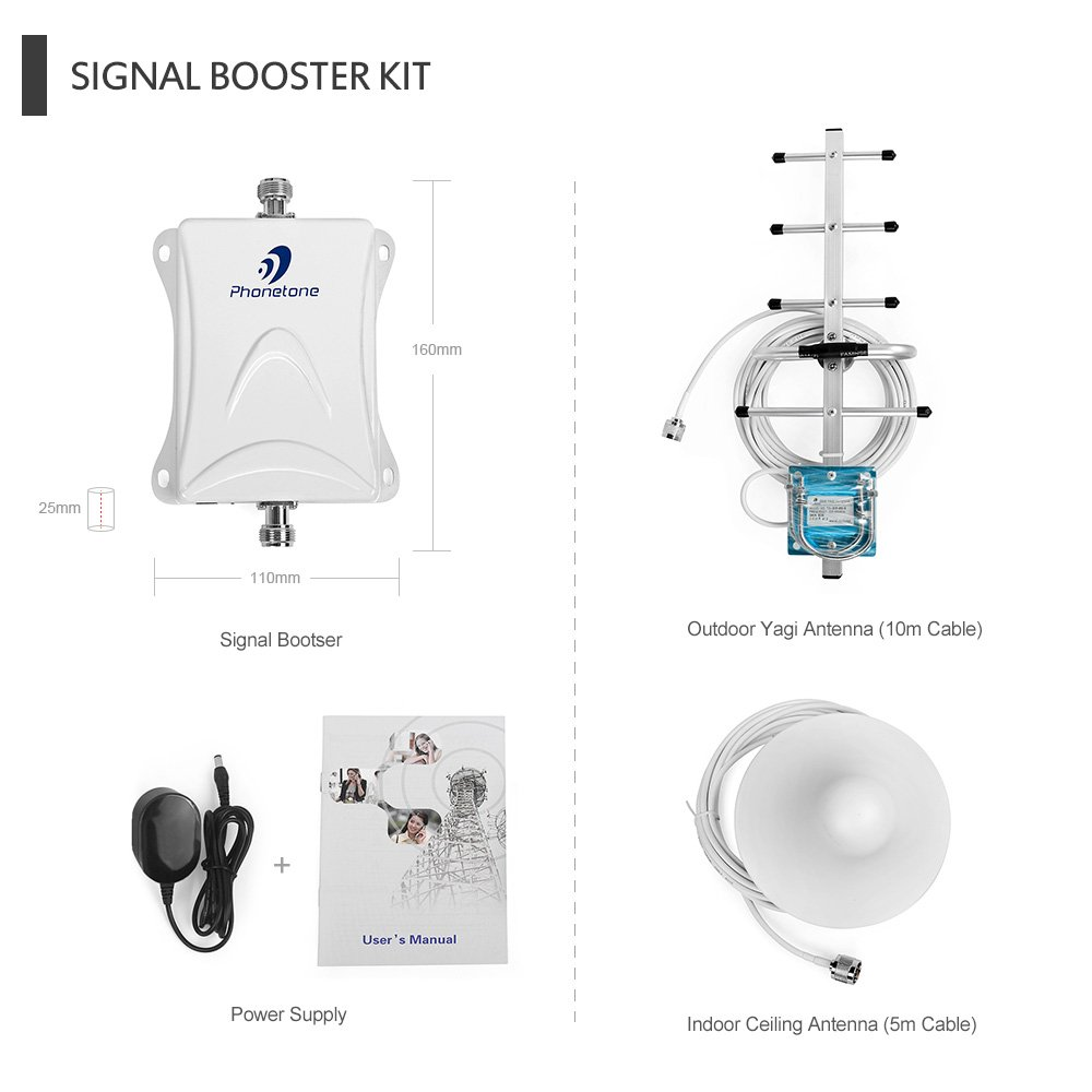 Cell Phone Signal Booster For Home And Office Enhance Amplifier Wiring As Well Antenna Circuit Diagram Voice Text 3g Data 70db 850mhz Band 5 Repeater Phones