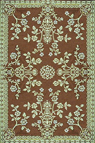 Duracord Outdoor Rug (Mad Mats Garland Indoor/Outdoor Floor Mat, 6 by 9-Feet, Teal and Brown)