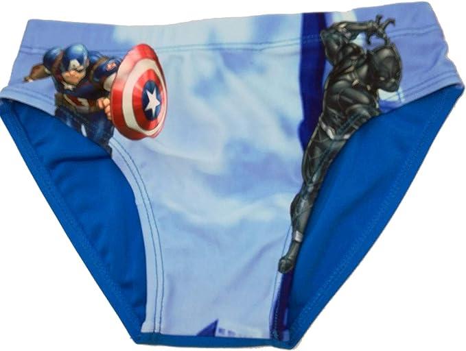 Costume Avengers Hulk e Iron Man Mare Bambino Originale Marvel Slip Bagno da 4 Anni a 10 Anni