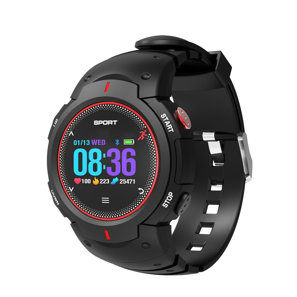Buybuybuy F13 Smart Watch Waterproof IP68 Fitness Tracker with Heart Rate Monitor Sleep Monitor Remote Camera Pedometer Smart Sport Bracelet for Android iOS Phones Men Kids (red)