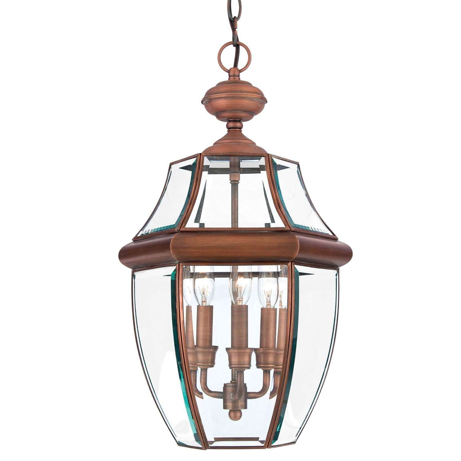 Bidwell Lighting Yahi 21'' Tall 3 Light Outdoor Pendant - Aged Copper