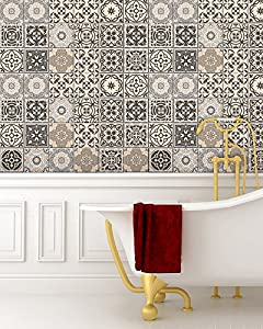 Tile Stickers 24 PC Set Authentic Traditional Talavera Tiles Stickersl  Bathroom U0026 Kitchen Tile Decals Easy To Apply Just Peel U0026 Stick Home Decor  6x6 Inch ...