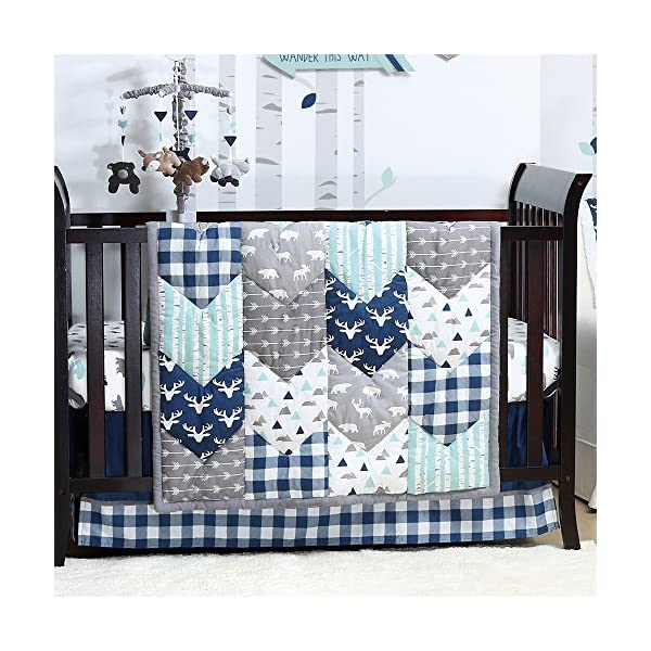 Woodland Trail Forest Animal Theme Baby Crib Bedding – 11 Piece Sleep Essentials Set