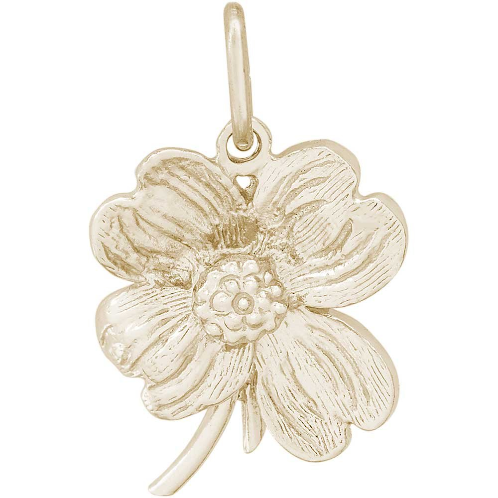 Rembrandt Charms Dogwood Charm, Gold Plated Silver