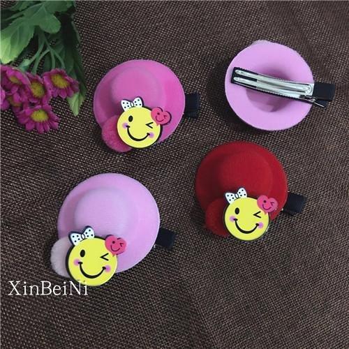 Children grass hat hairpin Korean sweet princess dish made hairpin side clip headdress Korean female baby girl Shu for women girl lady