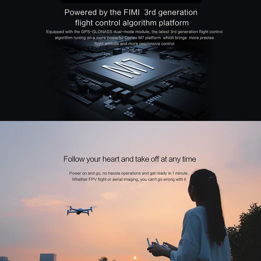 Goolsky FIMI A3 GPS Drone con C/ámara 3-Axis Gimbal 1080P 5.8G FPV Fotograf/ía A/érea de Transmisi/ón en Tiempo Real 1 Bater/ía