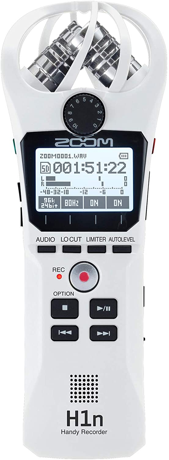 Zoom H1n Handy Recorder White Edition