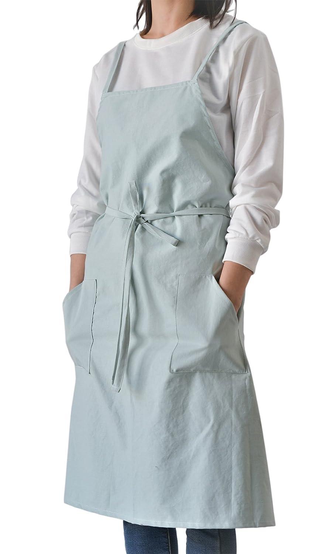 toconffonコットンキッチンエプロン料理ウェイトレスエプロンポケット付きスタイルX形状の女性とメンズ 31.5x39.4in グリーン 31.5x39.4in グリーン B07D9S26NH