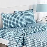 waverly sheets - Waverly Kids 16482BEDDFULBLU Norfolk Plaid Full Sheet Set, Blue