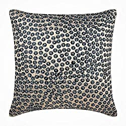 Sequins Embellished Silk Toss Pillow Covers