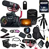 Canon EOS Rebel T7i DSLR Camera 18-55mm Lens, Microphone, Filters, Memory Card Advanced Video Kit