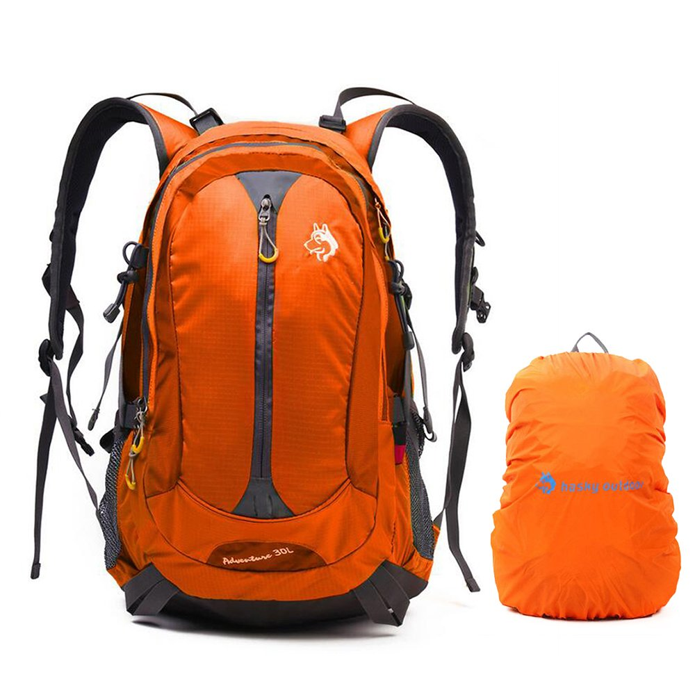King 30L Waterproof Wanderruju NGLE Zip-Up Rucksack Camping Backpack with Raincover Running Outdoor Cycling CY 3128 Grün Jungleking