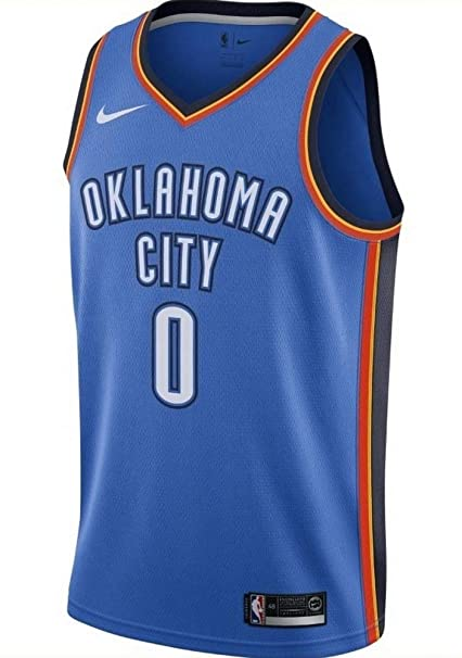 48e2193f4 Image Unavailable. Image not available for. Color: NIKE Russell Westbrook Oklahoma  City Thunder Icon Edition Swingman NBA ...