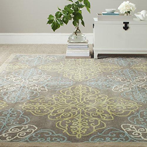 Safavieh Martha Stewart Collection MSJ5543B Handmade Moss Premium Wool and Viscose Area Rug (8' x 10')