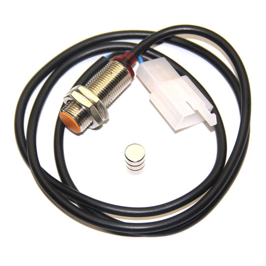 Universal Motorcycle Digital Odometer Ajustable LCD Tac/ómetro Medidor de velocidad con panel blanco 299 MPH//KPH Odograph