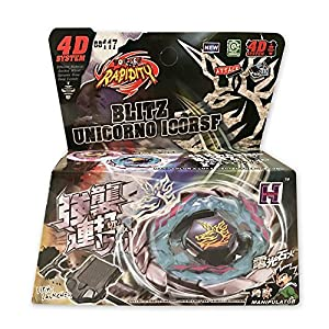 Beyblade Blitz Unicorno Striker 100RSF with Light Launcher 2 BB-99 LL2 Retail Starter Set from the Metal Fusion, Metal Fury, Metal Masters Series US Sold