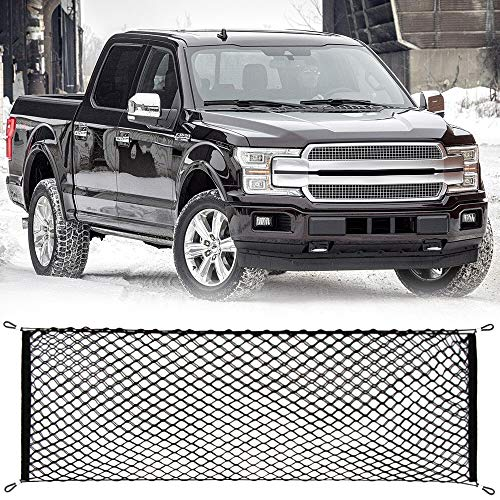 - AndyGo Cargo Net Truck Bed Envelope Style Trunk Cargo Organizer Fit for Ford F150 Raptor F250 F350 F450