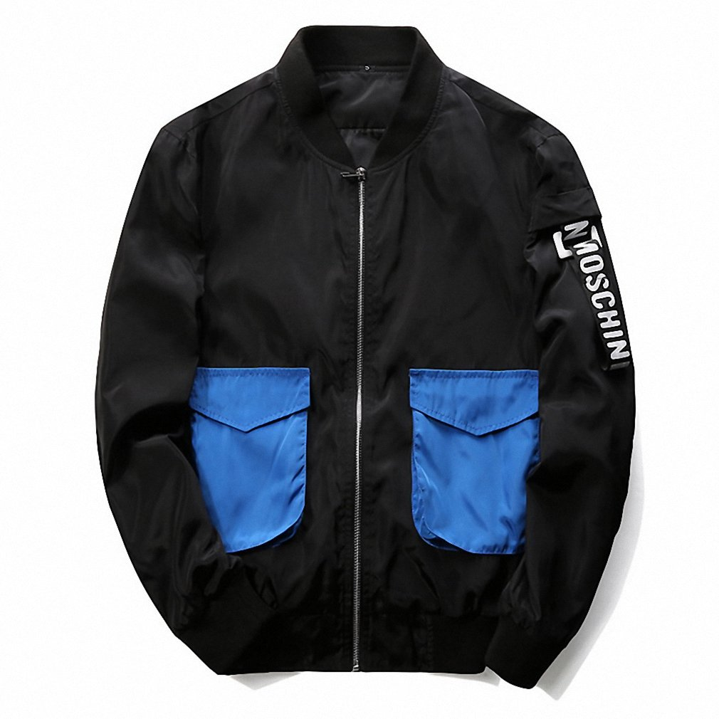 Mens Bomber Jackets Men NEW Spring Autumn Windbreaker Pilot Coat Casual Baseball Jacket at Amazon Mens Clothing store: