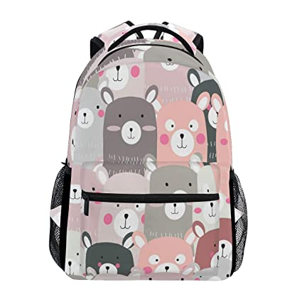 Bonita mochila de viaje con diseño de oso de peluche, resistente al agua, para