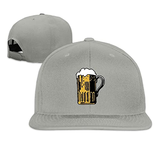 Beer Mug Logo Adult Cotton Adjustable Flat Brim Baseball Hats Hip Hop  Snapback Visor Cap Comfortable eb082aba8f9d