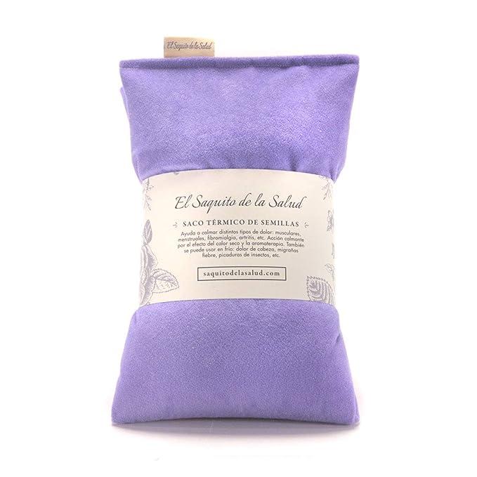 Saco Térmico Semillas Microondas Violeta Aterciopelado (Sin Aroma ...