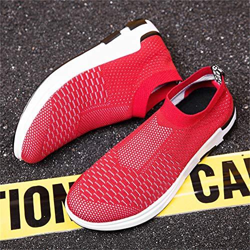 Iceunicorn On Respirantes Baskets Course Marche Rouge De En Slip Hommes Plein Air Chaussures Lightweight Casual qtrSq1Pw