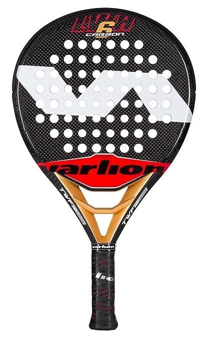 Varlion LW H Carbon 6 - Pala de pádel, Unisex Adulto, Rojo/Dorado
