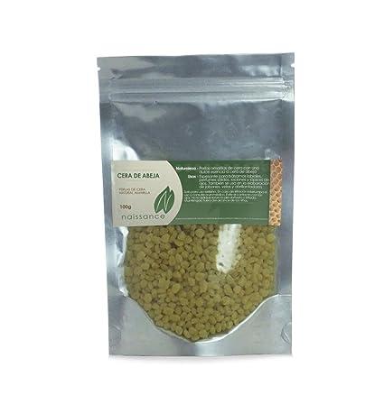 Naissance Cera de Abeja - Perlas Amarillas de Cera de Natural - Ingredientes Naturales - 100g