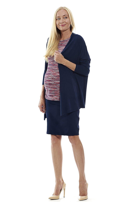 MOTHERWAY Damen Umstandspullover Cardigan Loose-Fit Umhang Umstandsbekleidung Pullover