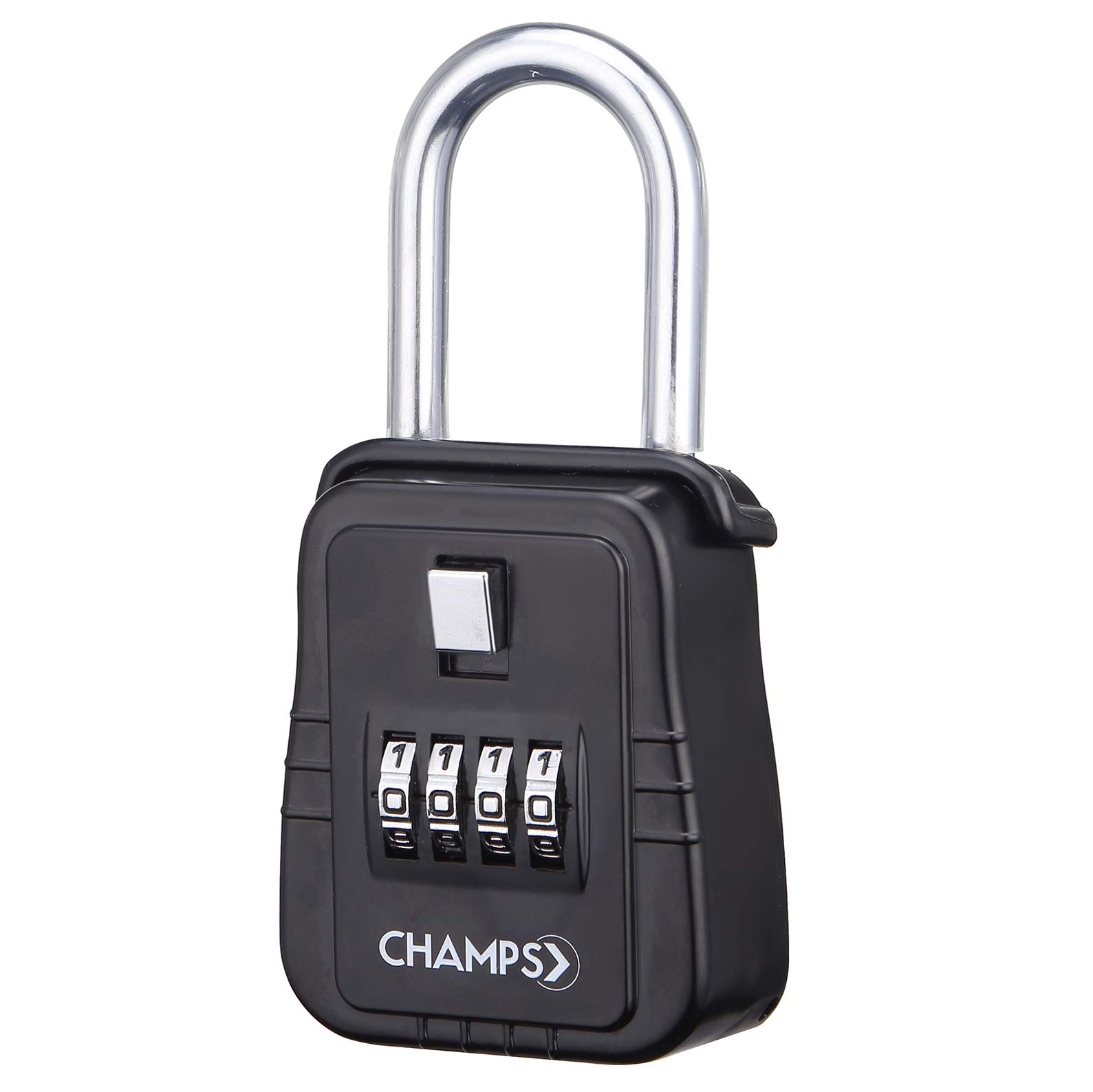 Champs Combination Realtor Lock, 4 Digit Key Padlock, Real Estate Key Lock Box, Set-Your-Own Combination by Champs