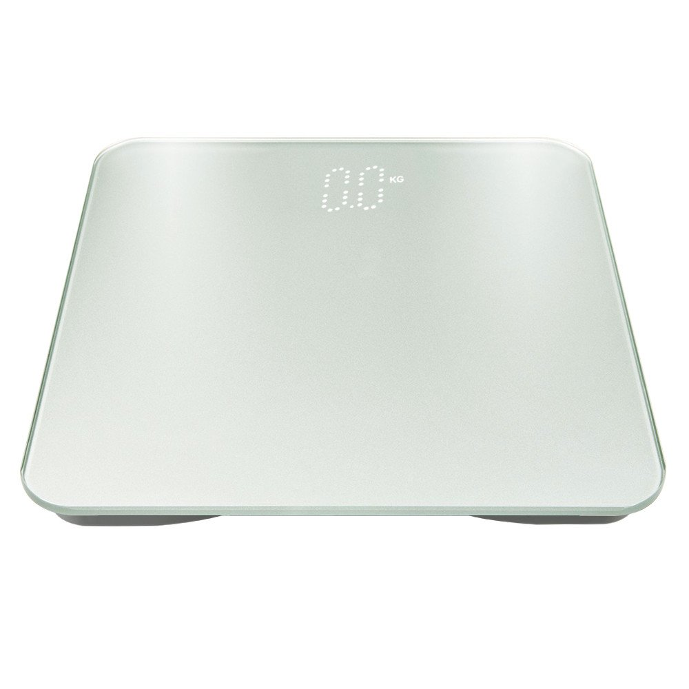 Autoday Digital Body Weight Bathroom Scale, Autoday High Accuracy, Tempered Glasss Top, Precision Mesurement, 400 pounds Scale (Powered by 3* AAA Batteries,not Included) (White)