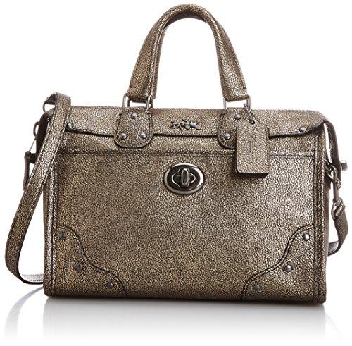 Rhyder Metallic Brass Small Leather 24 Convertible Crossbody Shoulder Bag 33684