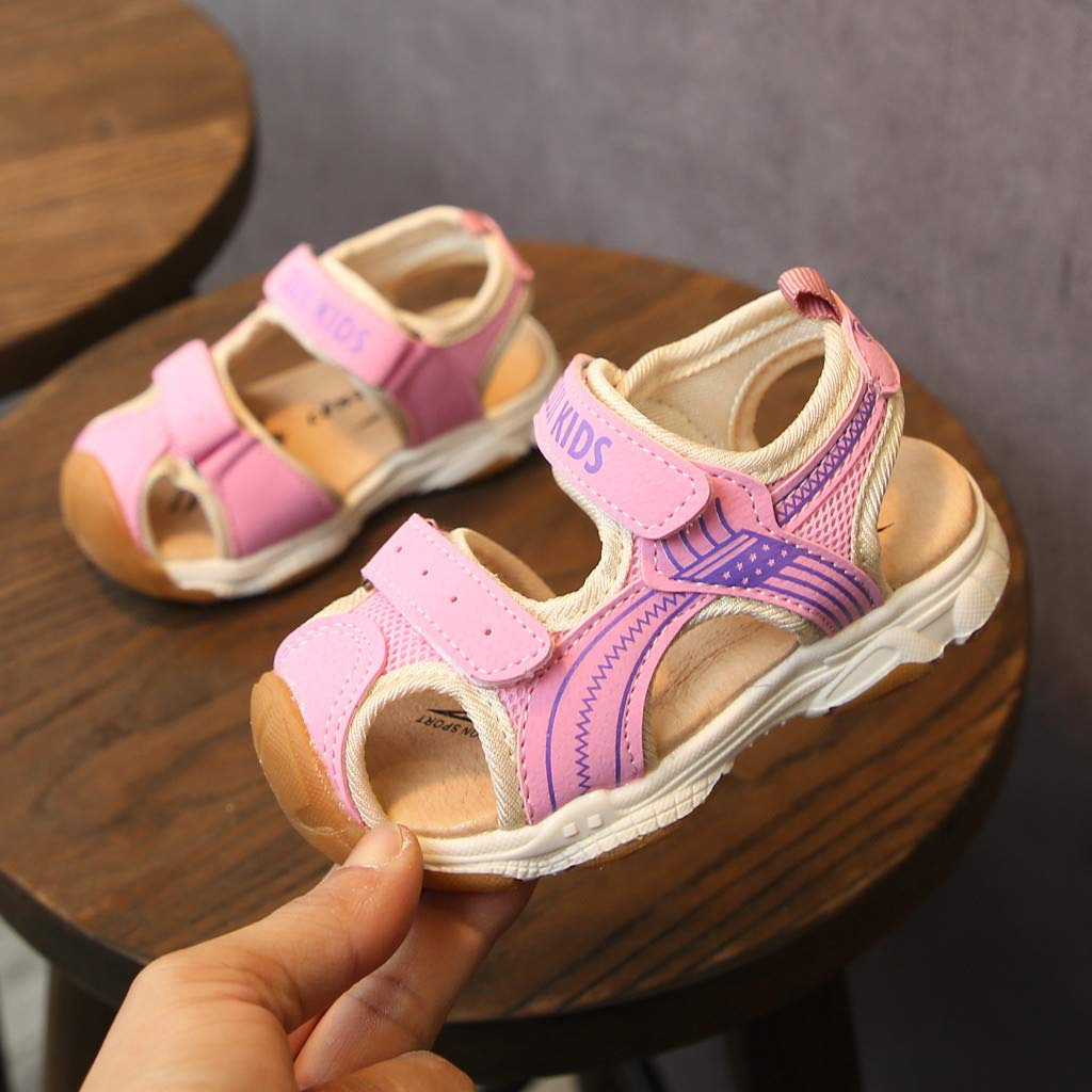 Baby Toddler Boys Girls Closed Toe Beach Shoes Sandals 1-7 Years Old Soft Non-Slip Walking Sandals Sneakers