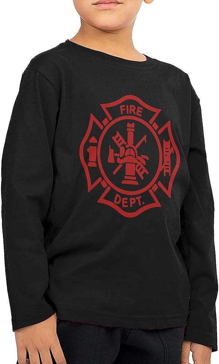 CERTONGCXTS Little Boys Firefighter ComfortSoft Long Sleeve Shirt