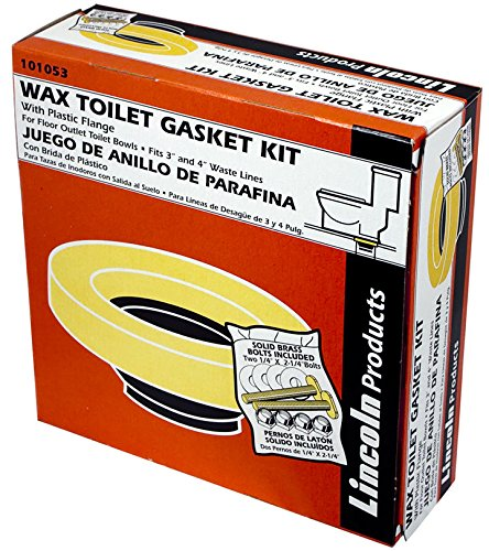 24 Pack Lincoln 101053 Toilet Bowl Wax Gasket with Sleeve and Brass Bolts by Lincoln Electric