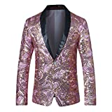 Cloudstyle Mens Blazer One Button Dress Coat Prom Wedding Party Jacket Slim Fit Suit Separates
